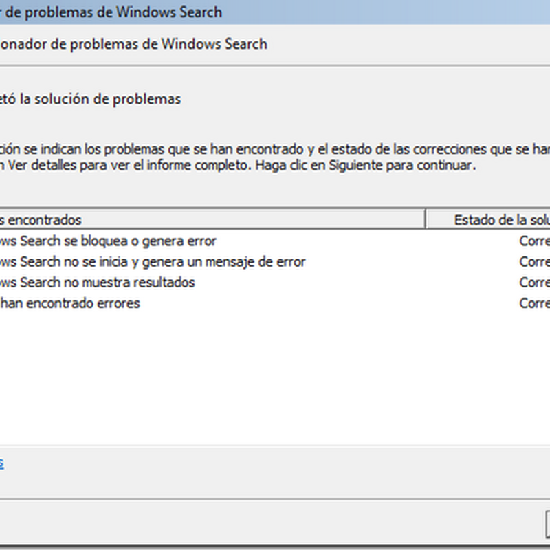 Arreglar el buscador de Windows 7