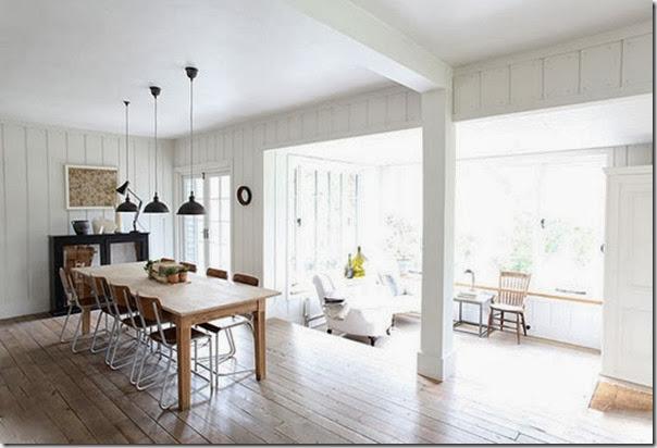 Casa nella foresta con spunti shabby chic case e interni for Casa moderna in campagna