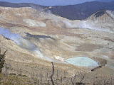 A view from the slopes above the new crater at Papandayan (Daniel Quinn, October 2009)