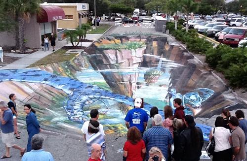 SARASOTA USA street painting