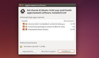 Ubuntu 14.04 -  Gestore Aggiornamenti