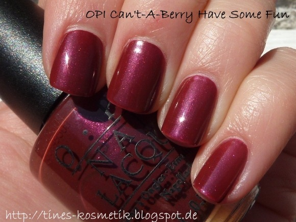 OPI Cant-A-Berry Have Some Fun 1