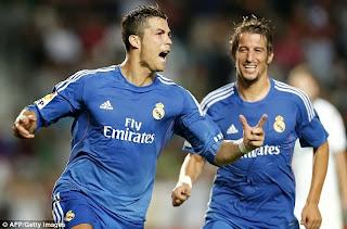 Elche 1:2 Real Madrid Spain liga bbva 25-09-2013