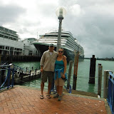 Tom and Linda on the waterfront in Auckland.