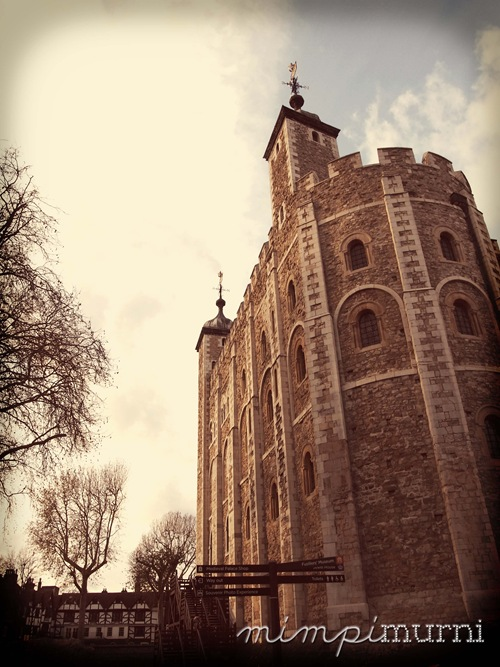 The tower of the Tower of London. This was once the tallest structure in England (and in the whole of Europe in fact) for a couple of hundred years.    