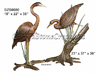 Crane Pair Standing & On Branch