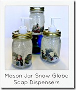 snow globe mason jar soap dispensers