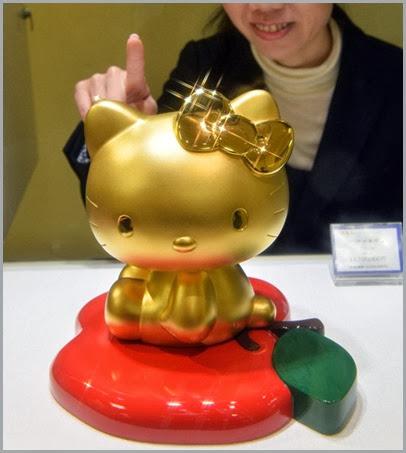 Panda de 1 m de altura banhado a ouro está à venda por R$ 213 mil