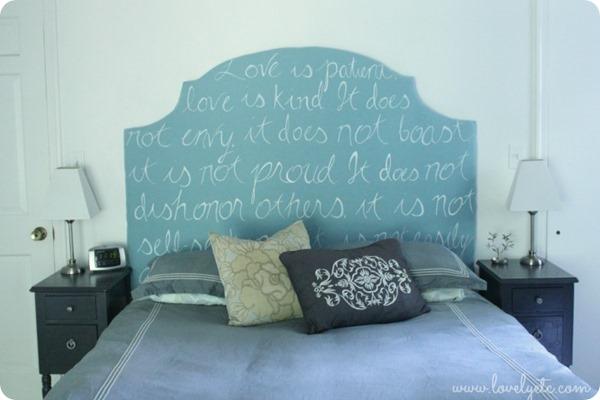 upholstered love headboard