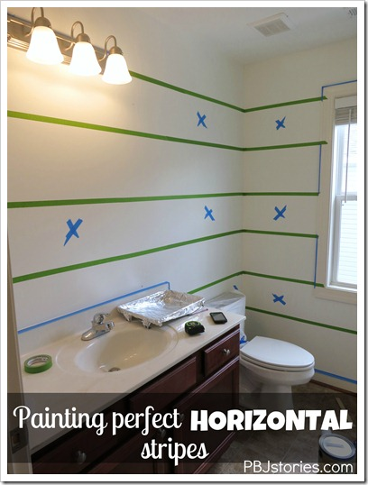 PBJstories painting horizontal stripes