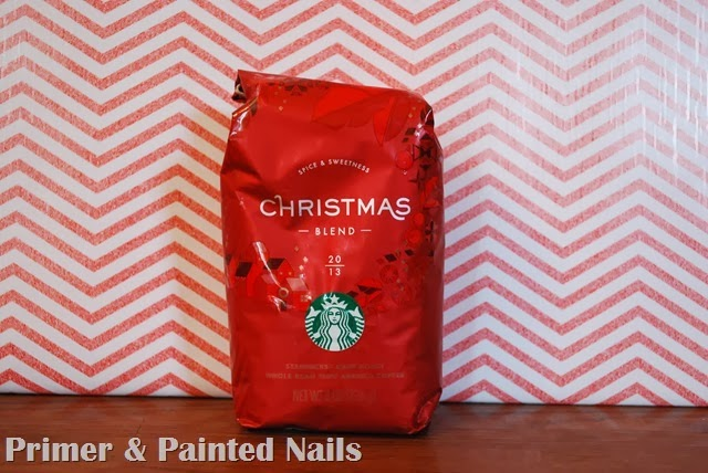 Bag of Coffee Beans - Primer & Painted Nails