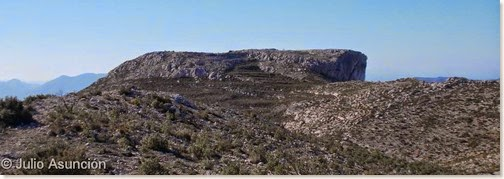 El Xarpolar - cima amesetada donde se encuentra el poblado ibérico