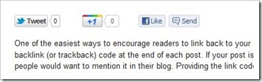 Simple Facebook Like-Send, Tweet, Google+ Button For Blog & Website