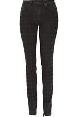 Karl High-rise patterned skinny jeans