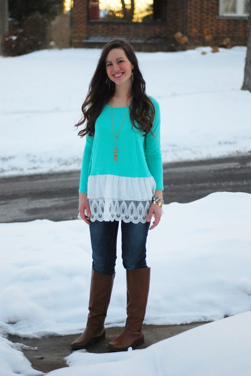 Lace Tunic & Jeans