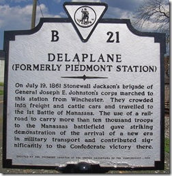 Delaplane (formerly Piedmont Station) Marker B-21