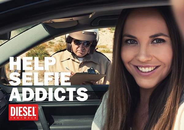 Diesel publicidad selfie