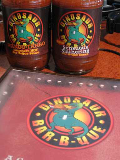 Award winning Dinosaur Bar-B-Que sauces