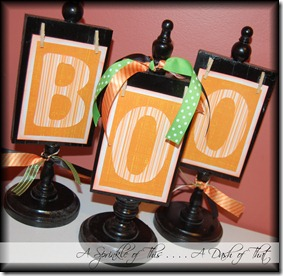 Halloween BOO {A Sprinkle of This . . . . A Dash of That}