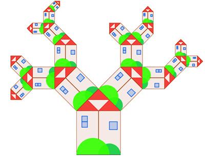albero delle casettine frattali