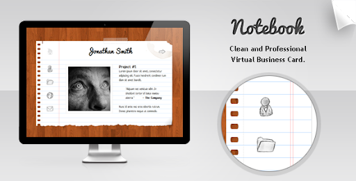 Premium virtual business card html templates notebook virtual notebook virtual business card colourmoves
