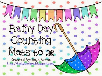 http://www.teacherspayteachers.com/Product/Rainy-Day-Counting-Mats-to-30-1184694