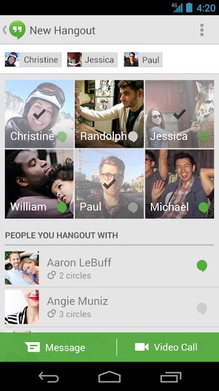Google hangouts 1 2