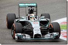 Hamilton nelle prove libere del gran premio d'Italia 2014