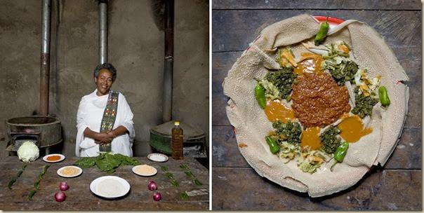 Portraits de grand-mères et leurs plats cuisinés (28)