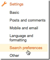 seo-search-preferences blog blogger
