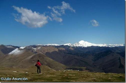 La Selva de Irati y el pico Ori desde el Mendizar