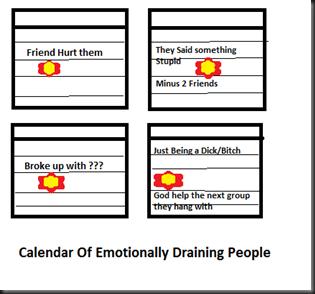 calender Emotinally Draining people
