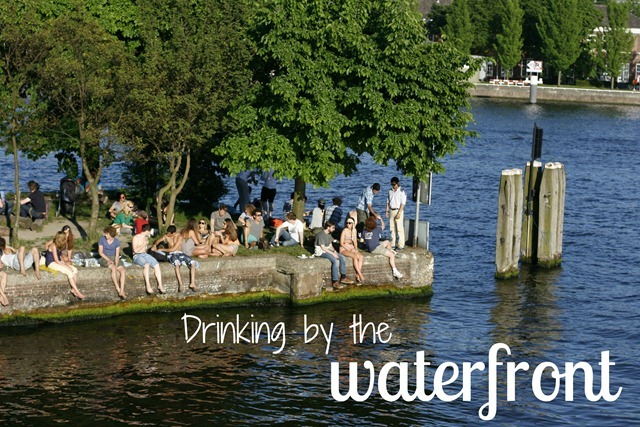 waterfront drinking amsterdam