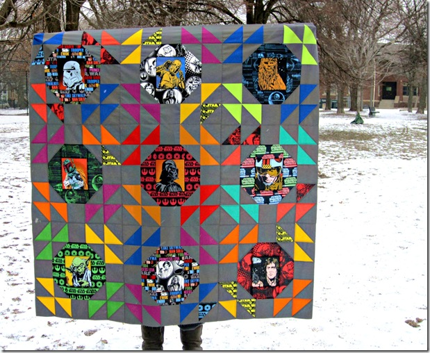 Star Wars Quilt Top in Snow