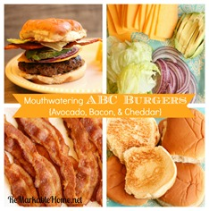 Mouthwatering ABC Burgers [Bacon, Avocado, & Cheddar]