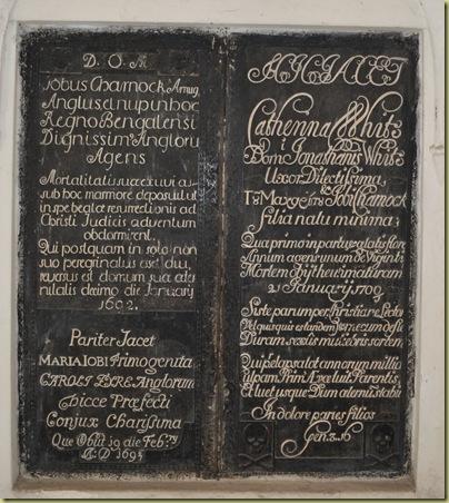 Job Charnock Inscription