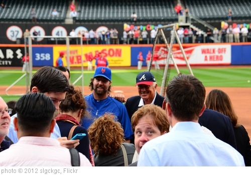 'R.A. Dickey and Phil Niekro' photo (c) 2012, slgckgc - license: http://creativecommons.org/licenses/by/2.0/