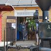 Museorautatien kahvio toimii Minkiön aseman vanhassa tavaramakasiinissa.