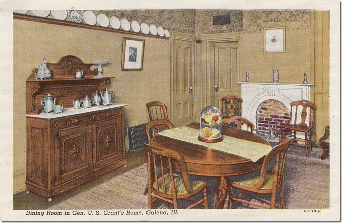 Dining Room, General U.S. Grant Home - Galena, Illinois pg. 1 - 1944