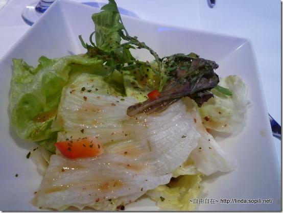 油醋沙拉-非常的普普通通,就只有生菜....