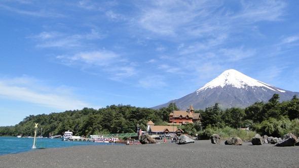 O Osorno visto desde o Lago Todos los Santos