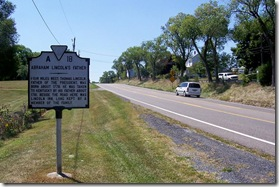 Abraham Lincoln's Father Marker A-18 looking south on Route 11