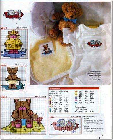 aplicações ponto cruz cross stitch bebes