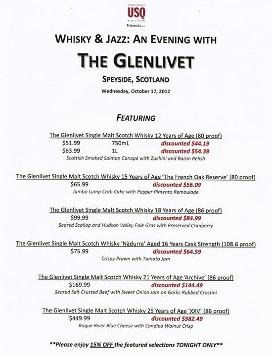 Glenlivet_Menu