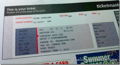 Tickets to the USMNT vs. Canada CONCACAF Gold Cup match in Ford Field, Detroit