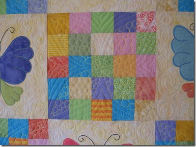 detail butterfly quilt