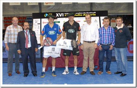 Navarro-Reiter y Díaz-Belasteguin se ponen la txapela en los XVI Internacionales Bwin PPT de Euskadi Copa Julio Alegría.
