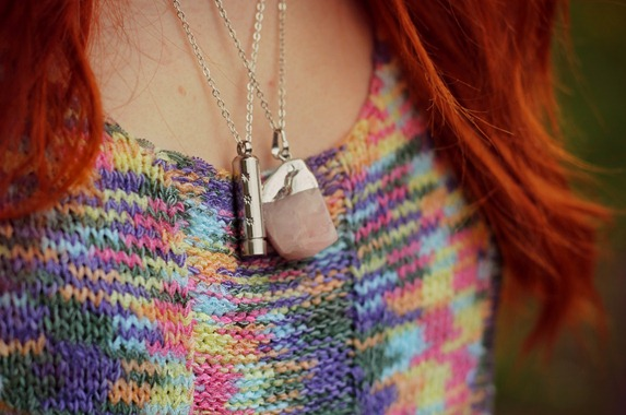DIXI WISH NECKLACE & ROSE QUARTZ NECKLACE