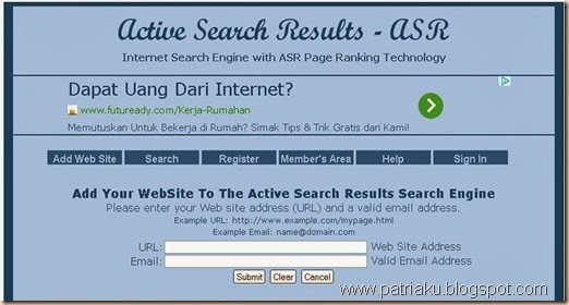 Meningkat PR di Active Search Results