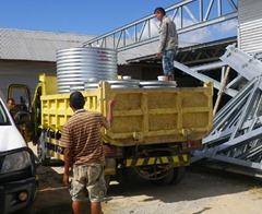 silos in truck